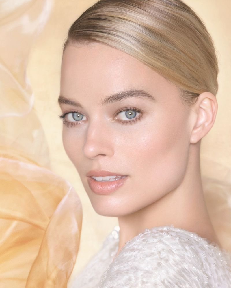 Margot Robbie poses for the Chanel Gabrielle Essence Campaign
