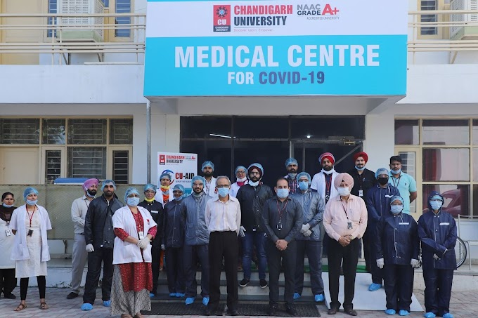 Chandigarh University (Punjab Largest COVID-19 Isolation Facility established at Gharuan by CU and District Administration Mohali)