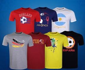 Custom T-shirt Sublime Poly Cotton yang Menonjolkan Sisi Depan