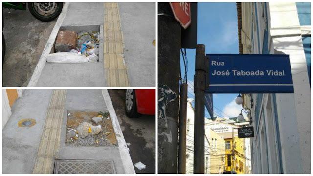 Passeio da  Rua José Taboada Vidal um perigo para os pedestres