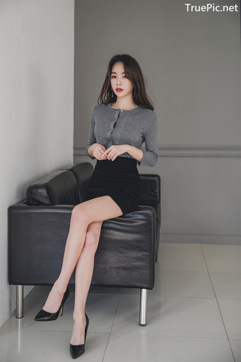 Image Korean Fashion Model - An Seo Rin - Office Dress Collection - TruePic.net - Picture-2