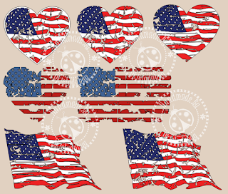 Distressed Flag SVG
