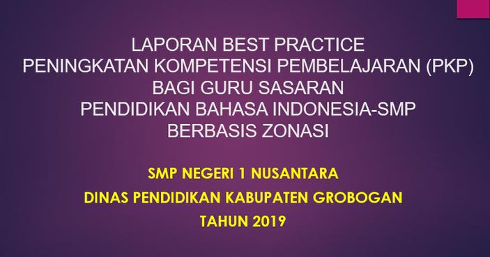 Laporan Pkp Best Practice Bahasa Indonesia Smp Berkas Guru 25
