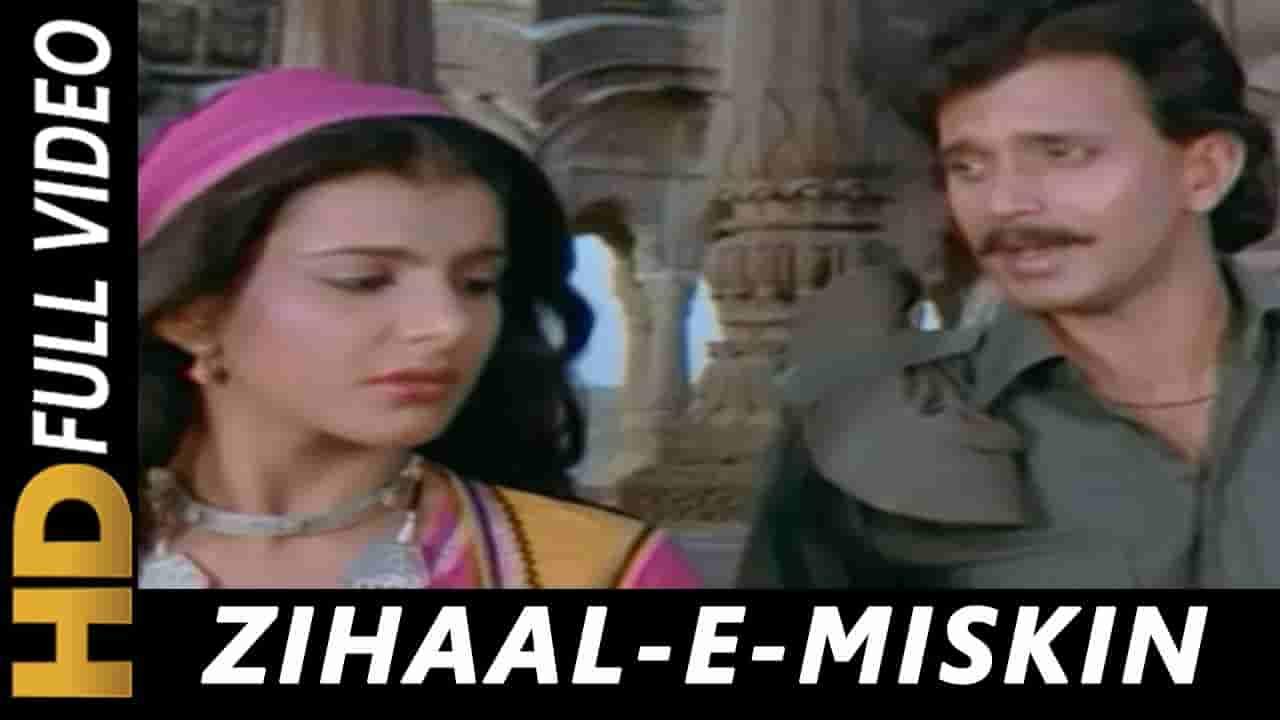 Zihal e miskin lyrics Ghulami Lata Mangeshkar x Shabbir Kumar Bollywood Song