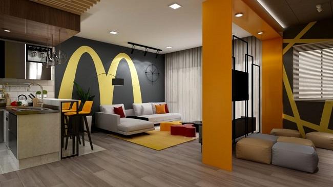 Casa com decoração inspirada no McDonald's/Reprodução