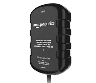 $13, Amazon Basics Battery Charger 12 Volt 800mA