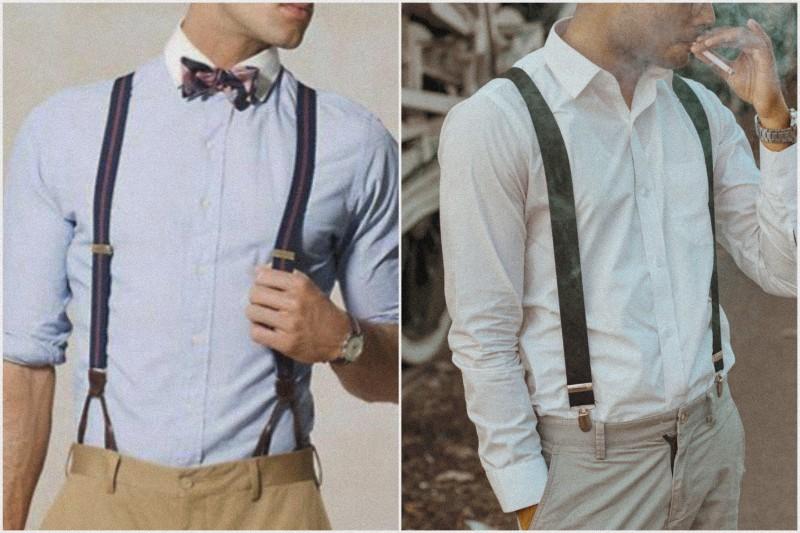 Types of men's suspenders.