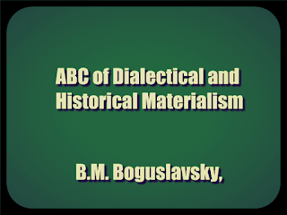 ABC of Dialectical and Historical Materialism