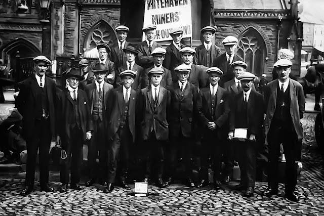 Striking Whitehaven Miners, July 1923