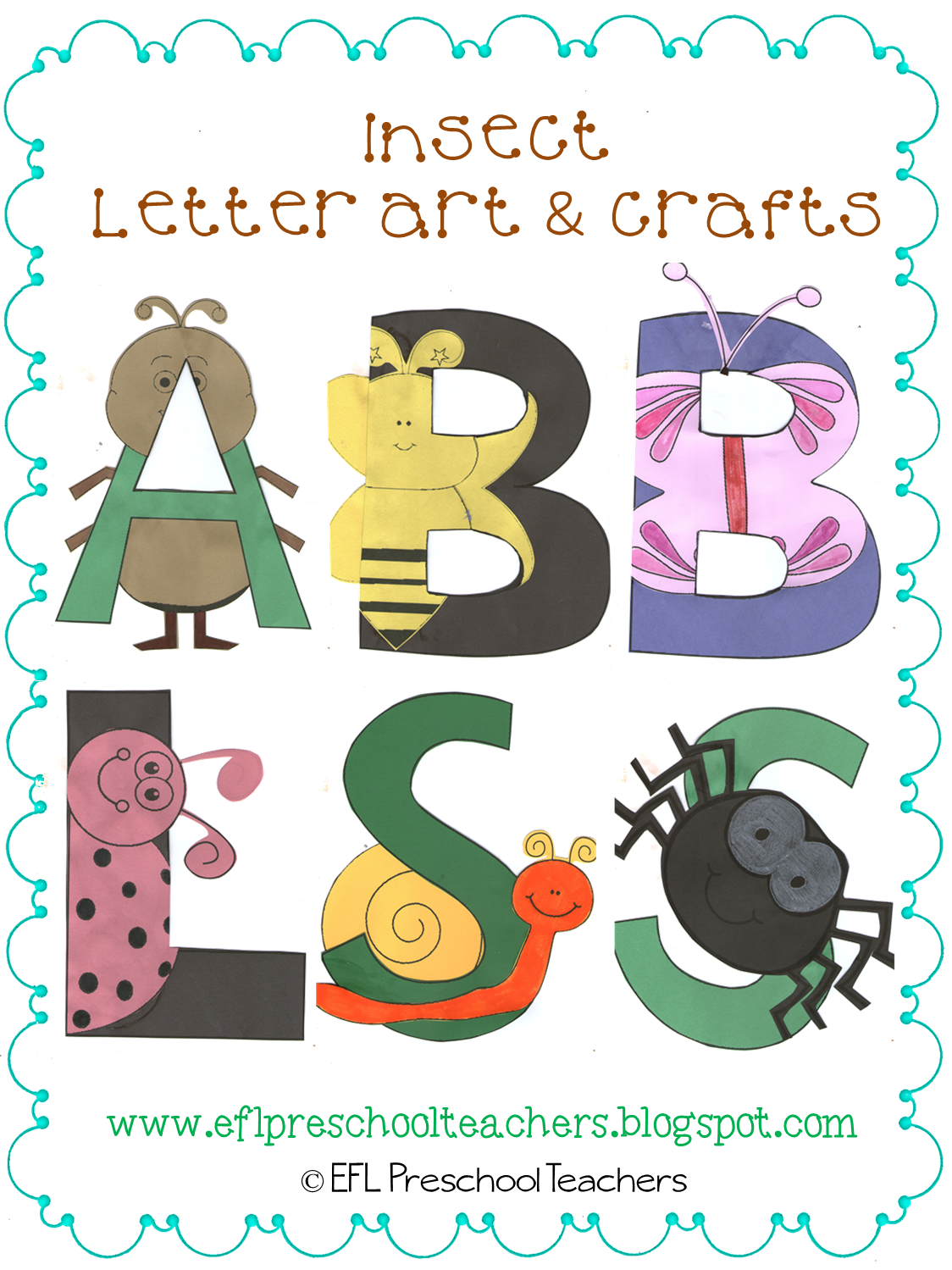 Esl Efl Preschool Teachers Insects Worksheets And More For Preschool Ela