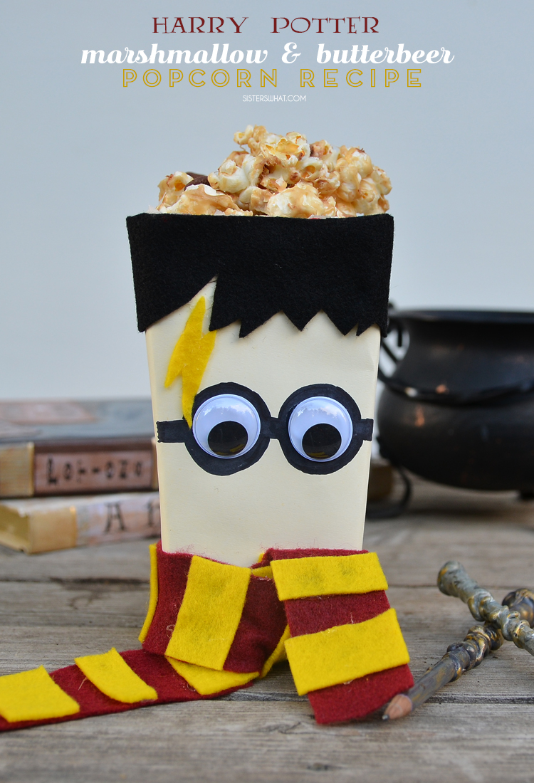 Harry Potter Marshmallow and butterbeer popcorn recipe