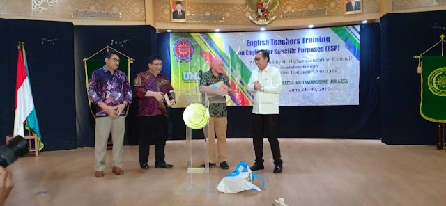 One of English Lecturers Mr. Syaifudin Latif Participated on English Teachers Training on English Suspencific Purpose (ESP),