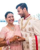 Mayank Agarwal with here mother