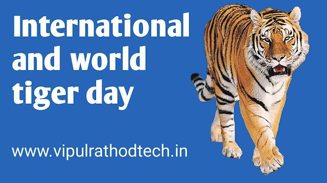 International tiger day, world tiger day