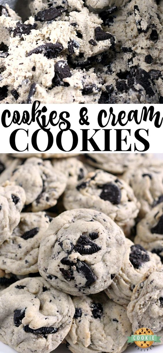COOKIES & CREAM COOKIES #recipes #baking #bakingrecipes #food #foodporn #healthy #yummy #instafood #foodie #delicious #dinner #breakfast #dessert #lunch #vegan #cake #eatclean #homemade #diet #healthyfood #cleaneating #foodstagram