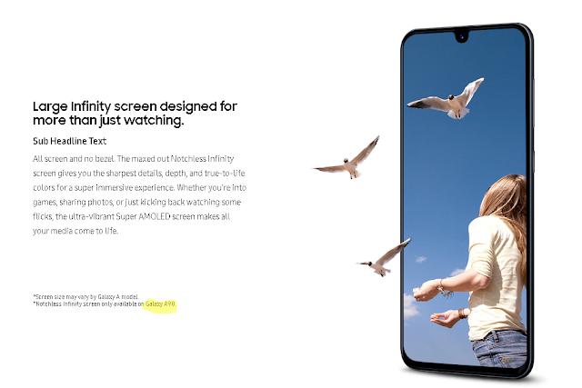 Samsung Galaxy A90 hadir dengan Infinity notchless