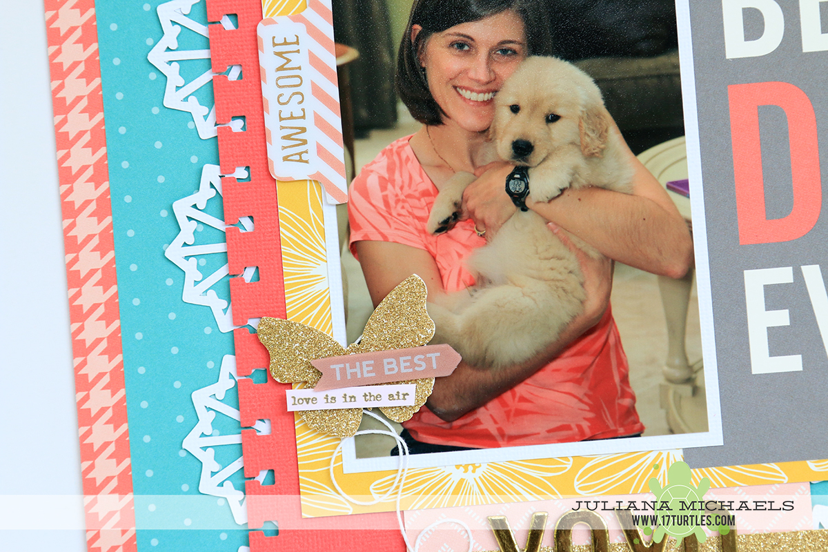 Best Day Ever Scrapbook Page by Juliana Michaels using Pebbles Inc Homemade