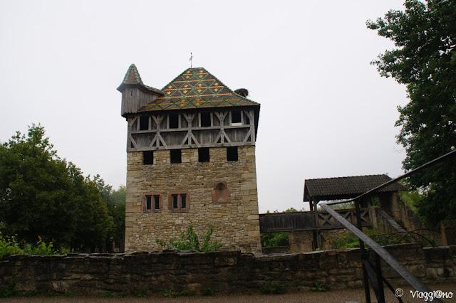 Torretta fortificata all'Ecomuseo d'Alsazia