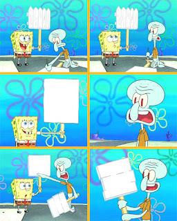 Polosan meme spongebob dan patrick 120 - spongebob dan squidward demo buruh di krusty krab