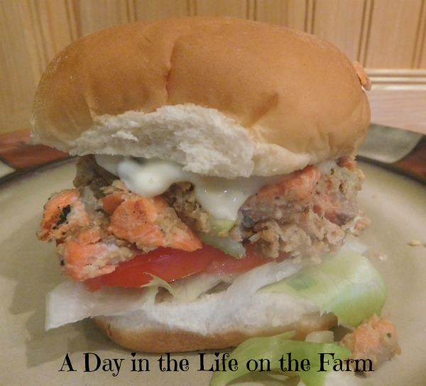 A Day in the Life on the Farm: Grilled Salmon Burgers with ...
