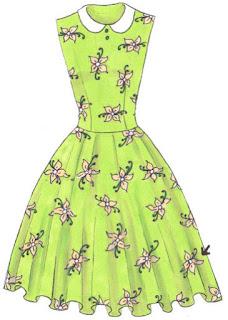 Langkah 9. Cara mudah menggambar Long Dress Motif Bunga