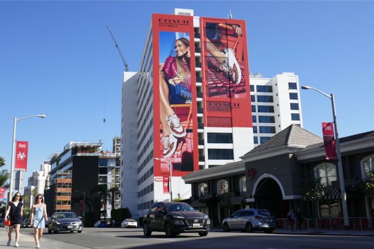JLO Coach CitySole sneakers billboard