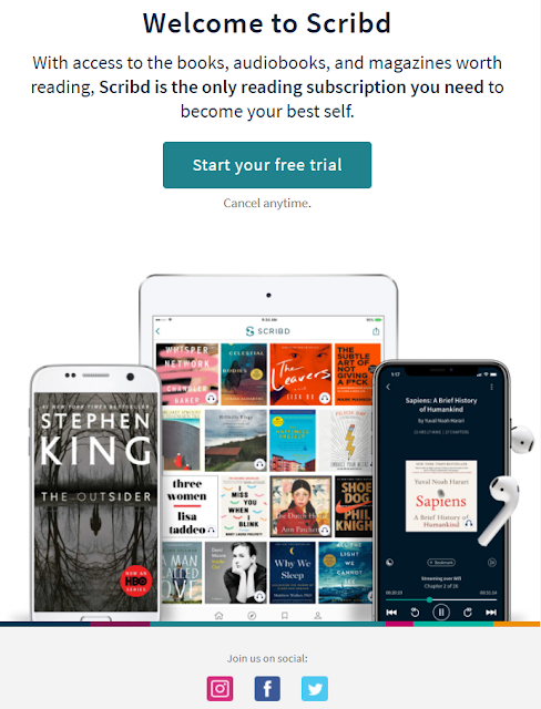Welcome email from Scribd