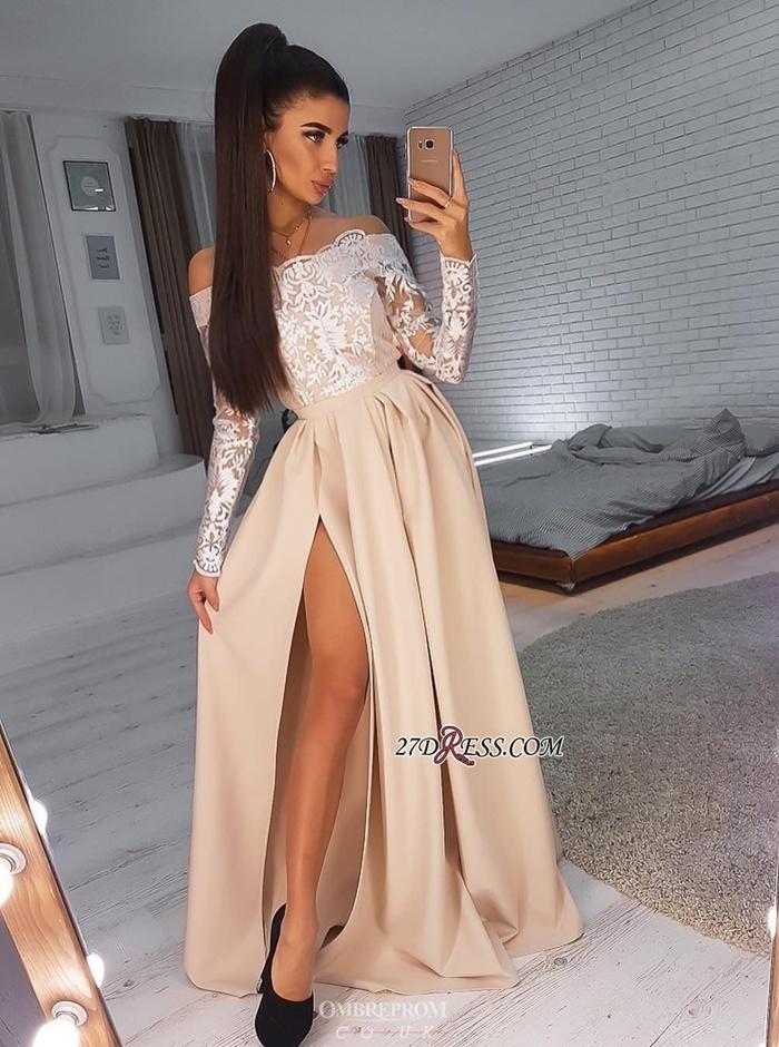 https://www.27dress.com/p/side-slit-elegant-long-sleeves-off-the-shoulder-a-line-prom-dresses-109982.html