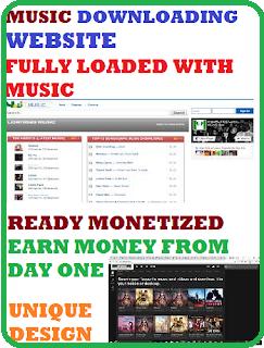 Music Downloading Website (Ready Monetized)