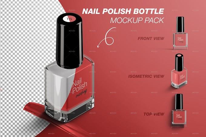 Nail Polish Bottle Mockup Pack 28766844