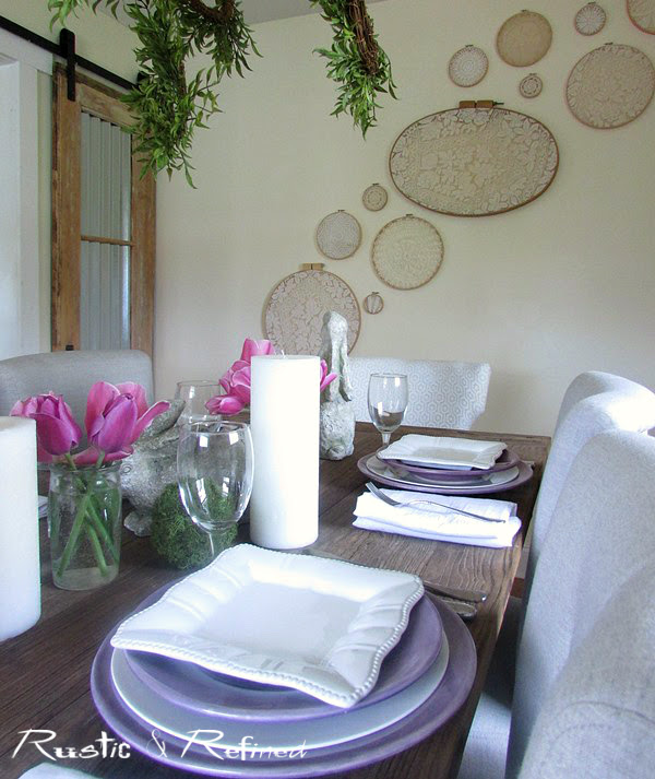 Quick and easy table styling for the home