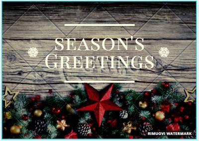 Biglietto di auguri: season's greetings