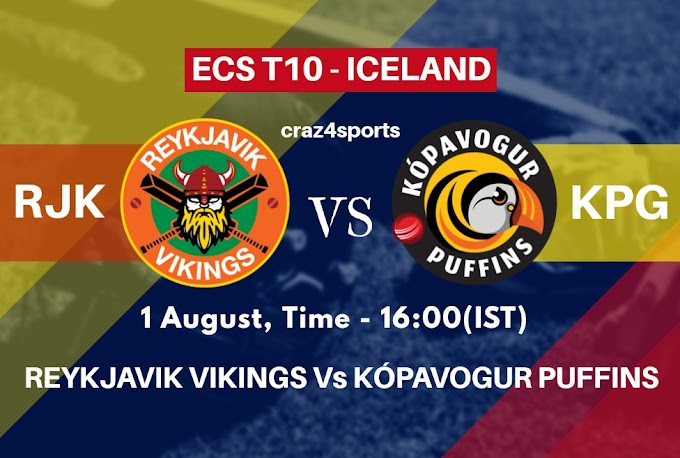 RKJ VS KPG Dream11 prediction | REYKJAVIK VIKINGS Vs KÓPAVOGUR PUFFINS | Dream11 ECS T10 ICELAND | Top picks | Players stats | Pitch Report | Dream Team