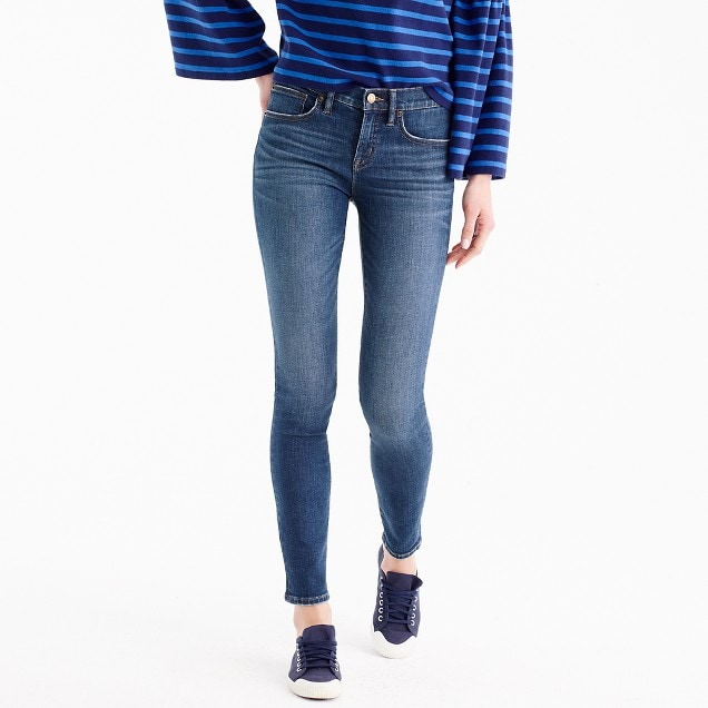 "j crew 8"" toothpick jean in lyric wash"