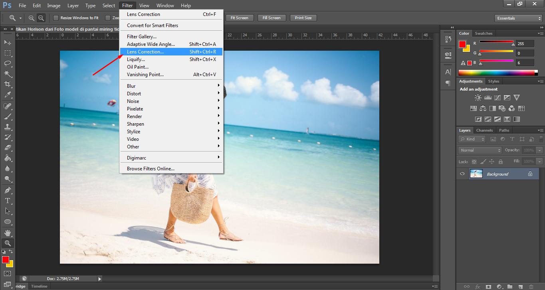 Cara mudah mengedit Foto menggunakan Photoshop agar lurus