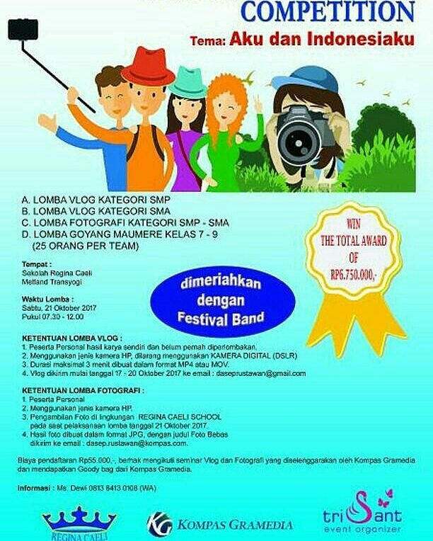 Lomba Vlog & Fotografi Competition Peserta SD-SMP-SMA | Kompas Gramedia