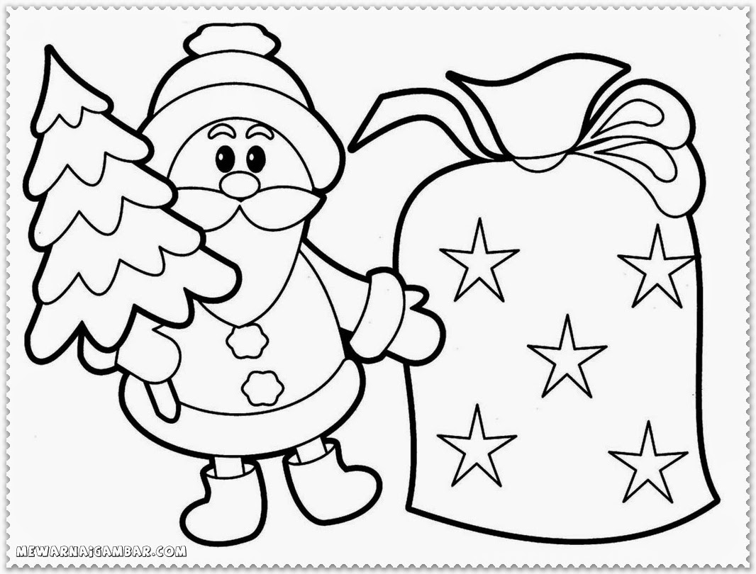Christmas Coloring Pages Santa Sleigh