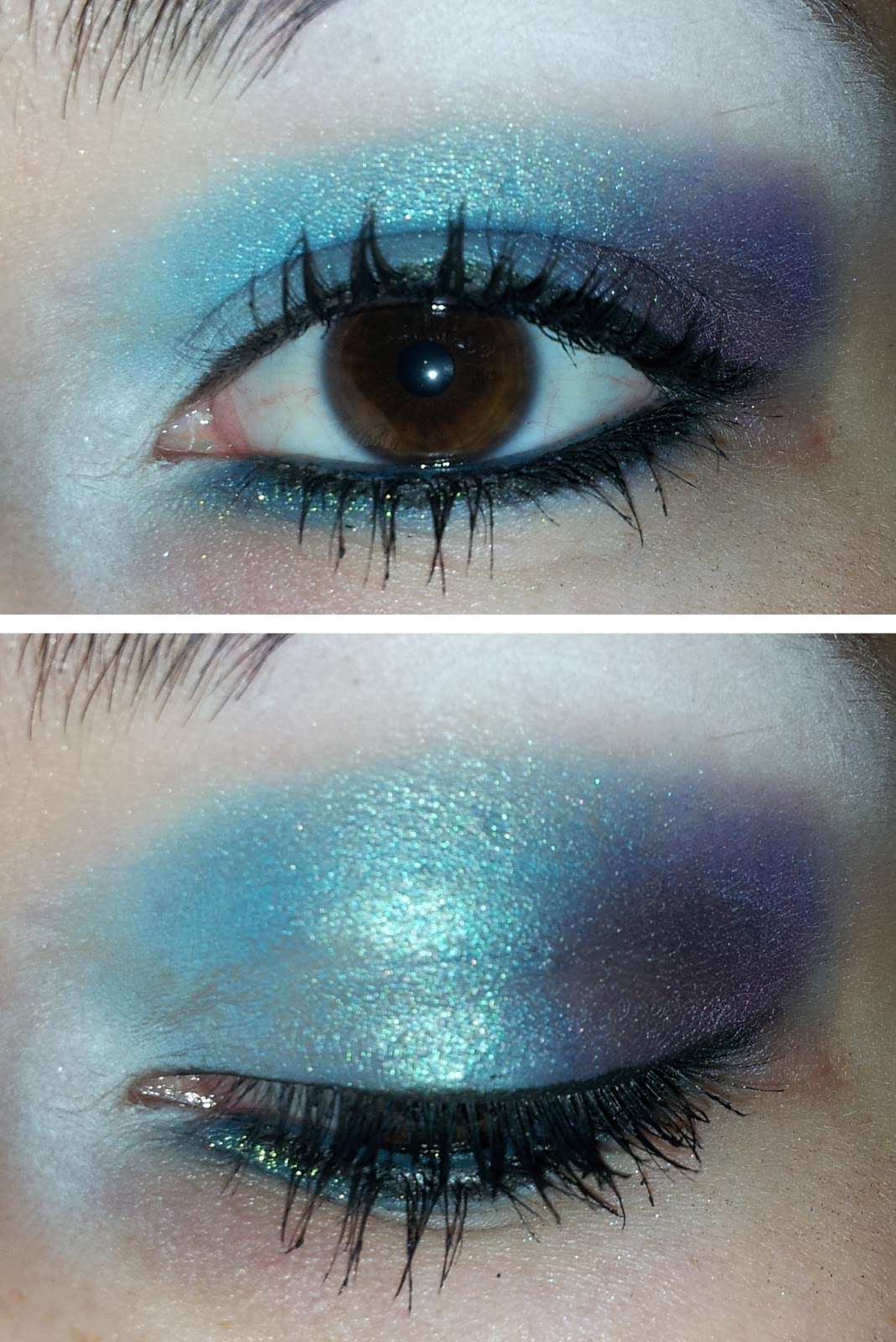 Purple Eyeshadow Tutorial: Lainamarie91: Makeup Tutorial :: Dramatic Blue & Purple