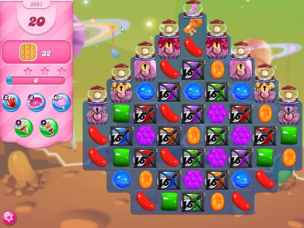 Candy Crush Saga level 3691