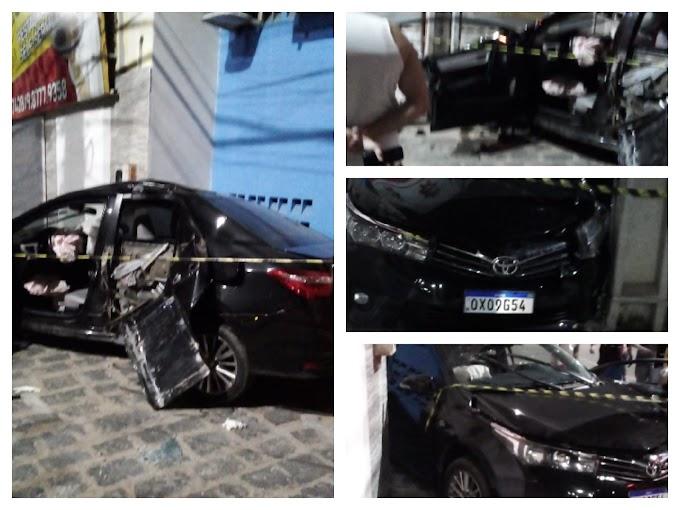 Motorista sai ileso de grave acidente de trânsito no centro de Cajazeiras neste domingo