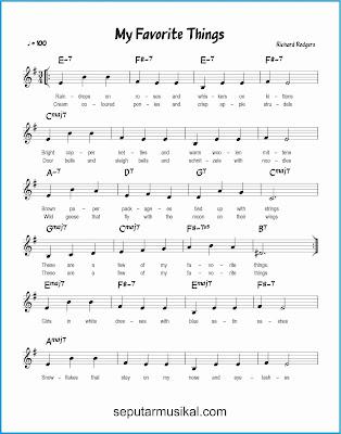 my favorite things 1 lagu jazz standar