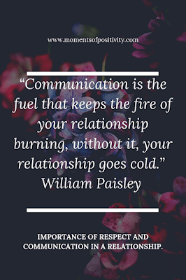 RESPECT AND COMMUNICATION IN A RELATIONSHIP