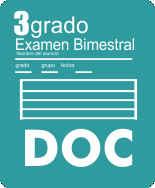 Examen Bloque I Tercer grado Ciclo Escolar 2015-2016