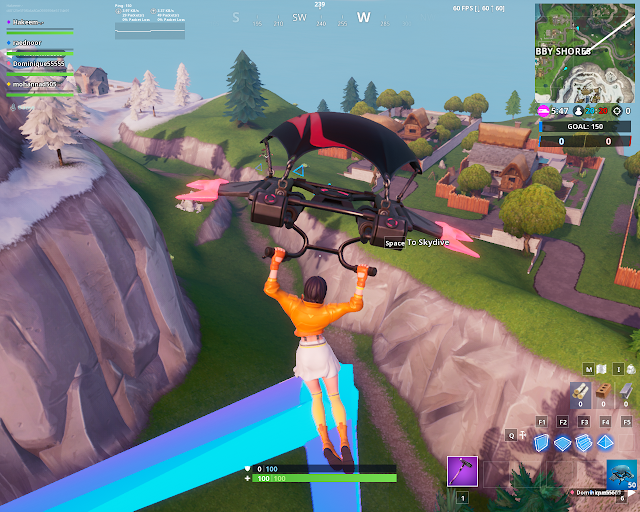 Accessible by flying the Scarlt Strike Glider through the rings east of Snobby Shores FORTBYTE Mission #89