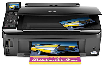 Fi in addition to Ethernet built inward part i printer amongst multiple PCs Epson Stylus NX510 Printer Driver Downloads