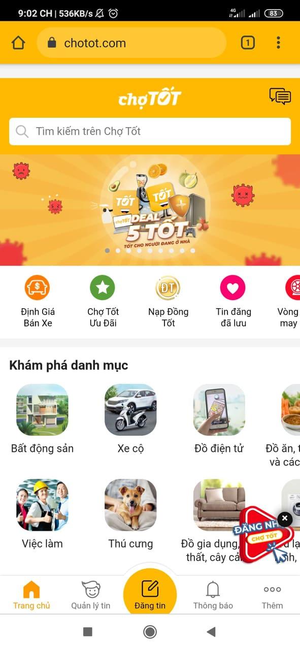 Tải app Chợ Tốt   Ứng dụng chuyên mua bán online trên ChoTot.Com e