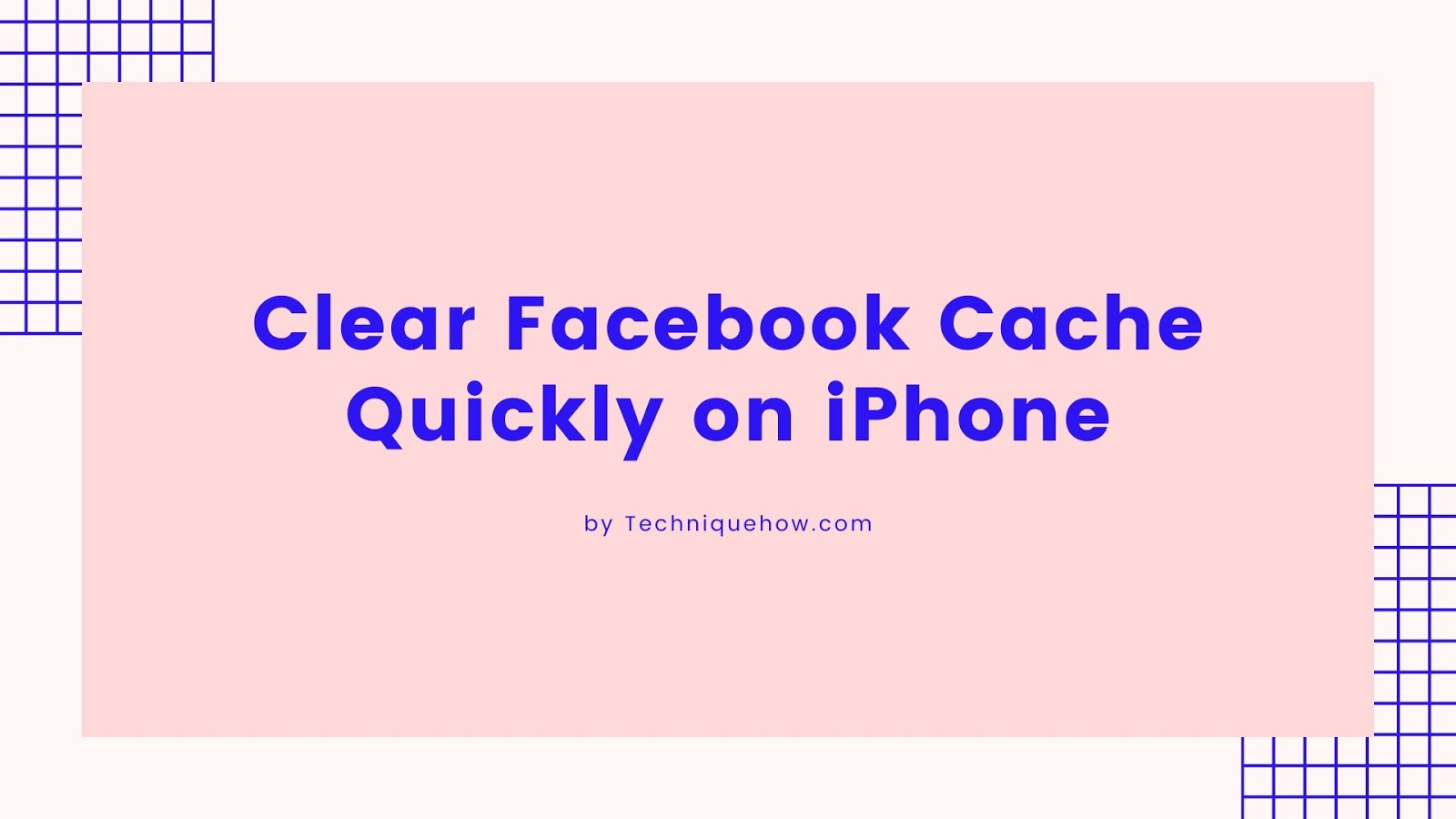 Clear Facebook Cache iPhone