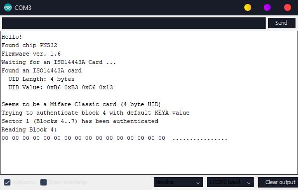 Arduino PN532 NFC
