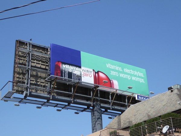Vitamins Electrolytes Zero womp womps Vitamin Water billboard