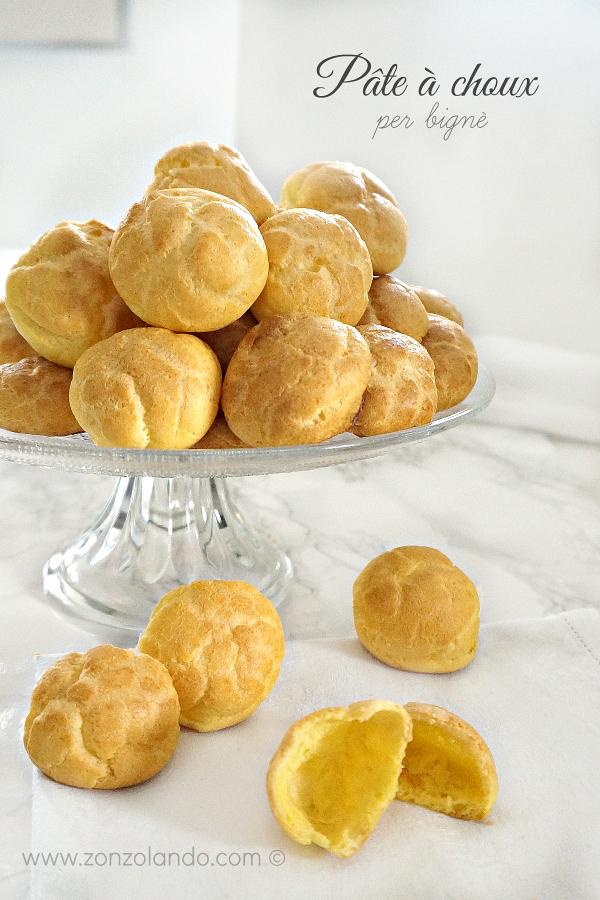 Pâte à choux, impasto per preparare i bignè ricetta - classic puffs recipe